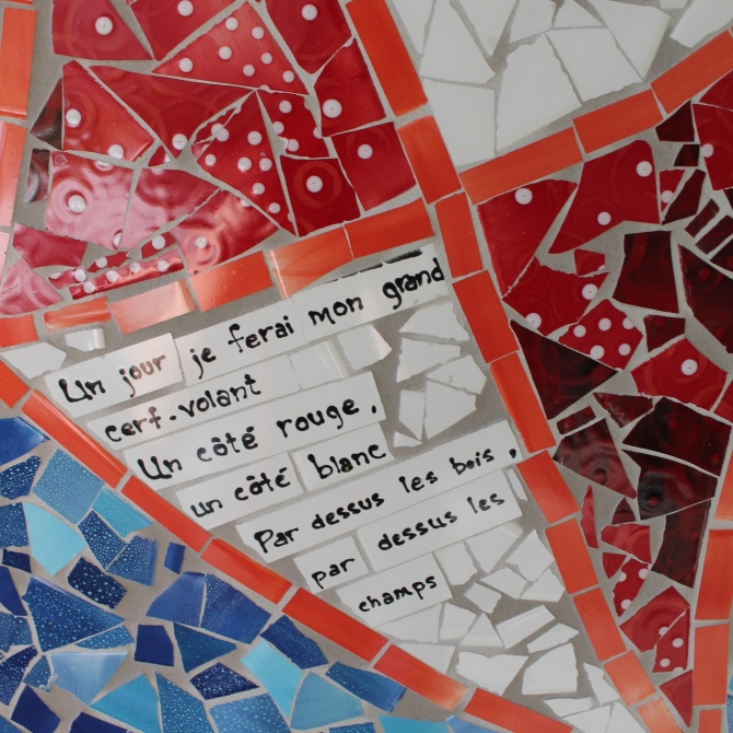 Jules Émond school, Quebec. - 2015. Detail from the mosaic. Theme: